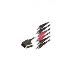 Cablu SCART 21P tata-6xRCA tata Sal Home V 56