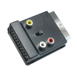 Adaptor EUROt-3xRCAm + SVHSm, aurit Sal Home V 50SG