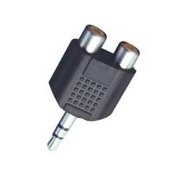 Adaptor jack 3,5 mm tata - 2 x RCA mama, stereo Sal Home AC 17