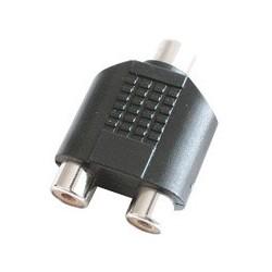 Adaptor 1 RCA mama - 2 RCA mama, plastic, mono Sal Home AC 18K