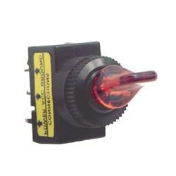 Comutator basculant 12V cu bec, rosu Sal Home AK 01