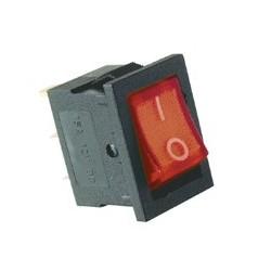 Comutator basculant 1 cont, 12V cu bec, rosu Sal Home AKV 01