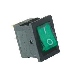 Comutator basculant 1 cont, 12V cu bec, verde Sal Home AKV 02