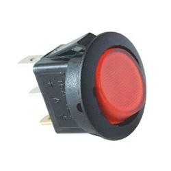 Comutator basculant 1 cont, 12V cu bec, rosu Sal Home AKV 11