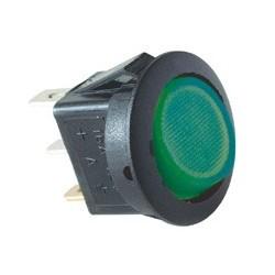Comutator basculant 1 cont, 12V cu bec, verde Sal Home AKV 12