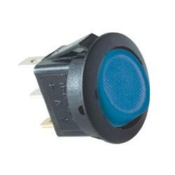 Comutator basculant 1 cont, 12V cu bec, albastru Sal Home AKV 14