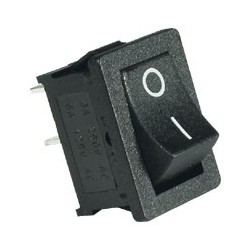 Comutator basculant, 250V, 1circuit, negru Sal Home ST 1/BK