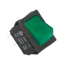 Comutator, 250V, cu bec, verde Sal Home STV 02