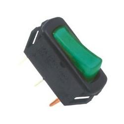 Comutator, 250V, 1circ, cu bec, verde Sal Home STV 04
