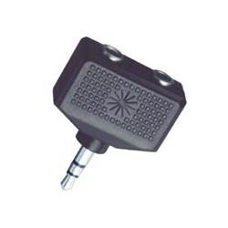 Adaptor jack stereo 3,5 mm tata – 2 x jack stereo 3,5 mm mama Sal Home AC 16X