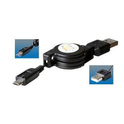 Cablu incarcare USB micro, poate fi bobinat, Sal Home SA 041