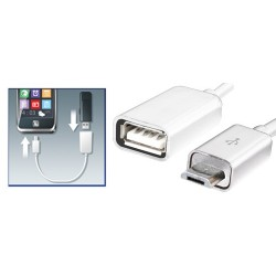 Cablu OTG conector USB micro - soclu USB, Sal Home SA 044