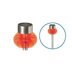 Lampa solara de gradina din plastic, cu decor, portocalie, Sal Home MX 838/OR