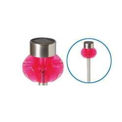 Lampa solara de gradina din plastic, cu decor, pink, Sal Home MX 838/P
