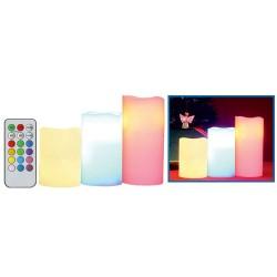 Set lumânari din ceara cu LED-uri, cu telecomanda, Sal Home CDR 3/M