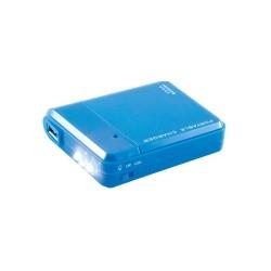 Incarcator de urgenta pentru dispozitive mobile, cu lanterna LED, albastru, Sal Home PB 4AA/BL