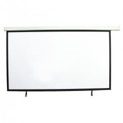 Ecran de proiectie cu motor si telecomanda IR pentru videoproiector, 16:9, 3x1.68m, Eurolite 80901187