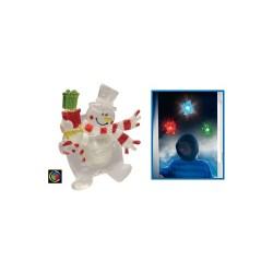 Decor fereastra cu led, om de zapada, Sal Home KID 324