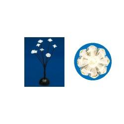 Decoratiune lemn pentru masa cu LED-uri, inaltime 38 cm, 8 buc LED-uri, culoare alba, calda, Sal Home KAD 17