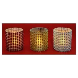 Candela cu LED-uri, decoratiune cu margele, Sal Home CD 6/12