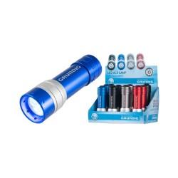 Lanterna 9LED-uri, ALU, 4 culori, 3xAAA, Grundig EDC 7130