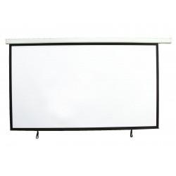 Ecran de proiectie cu motor si telecomanda IR pentru videoproiector, 16:9, 240x135 cm, Eurolite 80901185