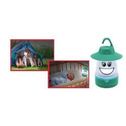 Lampa camping cu led, pentru copii, verde, Sal Home CL 7L/GR