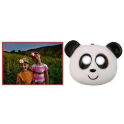 Lanterna frontala, panda, 2 LED-uri, Sal Home HLP 2 P