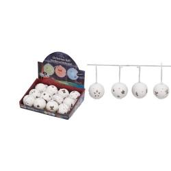 Decor glob de portelan, 1 buc LED alb cu lum. calda, 2 x AG13, Sal Home EDC 8170