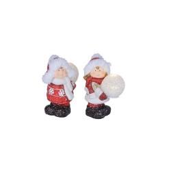 Figurina din ceramica cu LED, glob EVA, 2 x AG13, Sal Home EDC 1098