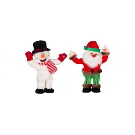 Figurine care canta si danseaza, om de zapada Mos, 3 x 1,5V AA, Sal Home EDC 9234/HM