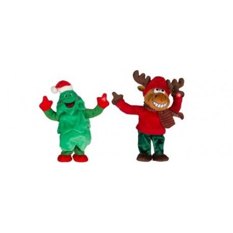 Figurine care canta si danseaza, brad ren, 3 x 1,5V AA, Sal Home EDC 9234/FR