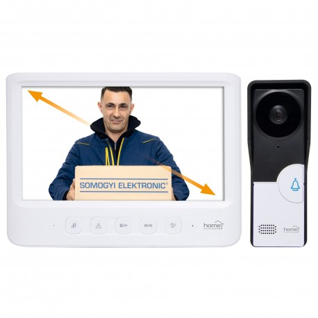 "Video-interfon, 7"" color, alb Sal DPV 26"